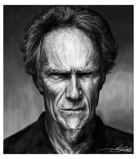 Clint Eastwood by Monkey Jack