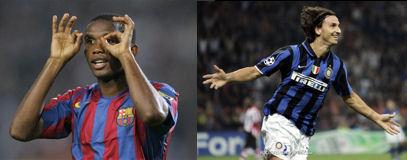 Eto'o vs Zlatan