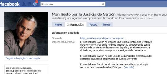 Manifiesto por la Justicia de Garzón