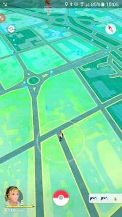 Captura del Pokemon Go